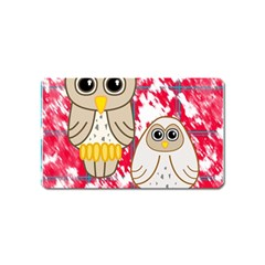 Two Owls Magnet (Name Card)