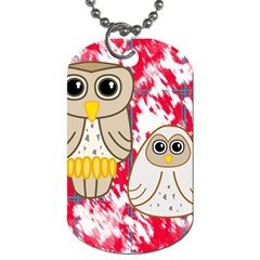 Two Owls Dog Tag (One Sided)