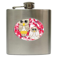 Two Owls Hip Flask