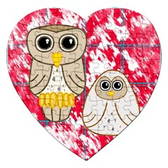 Two Owls Jigsaw Puzzle (Heart)