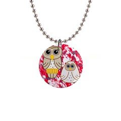 Two Owls Button Necklace