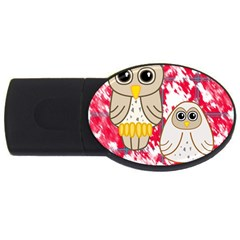 Two Owls 4gb Usb Flash Drive (oval)