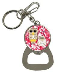 Two Owls Bottle Opener Key Chain