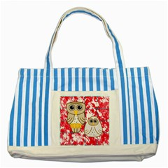 Two Owls Blue Striped Tote Bag