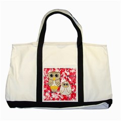 Two Owls Two Toned Tote Bag