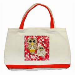 Two Owls Classic Tote Bag (Red)