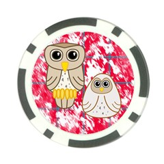 Two Owls Poker Chip