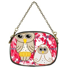 Two Owls Chain Purse (one Side)