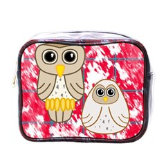 Two Owls Mini Travel Toiletry Bag (one Side)