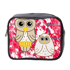 Two Owls Mini Travel Toiletry Bag (two Sides)