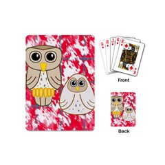 Two Owls Playing Cards (Mini)