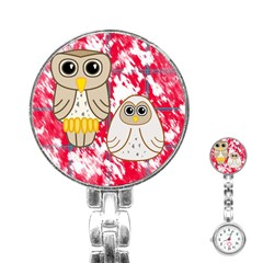 Two Owls Stainless Steel Nurses Watch