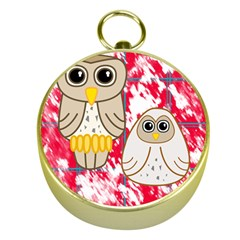 Two Owls Gold Compass