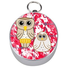 Two Owls Silver Compass
