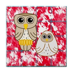 Two Owls Ceramic Tile