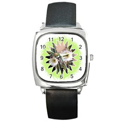 20131123 3 Square Leather Watch