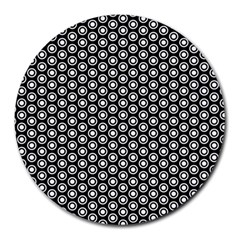 Groovy Circles 8  Mouse Pad (Round)
