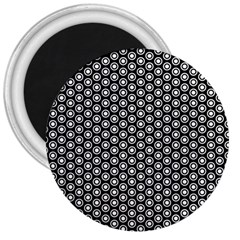 Groovy Circles 3  Button Magnet