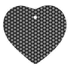 Groovy Circles Heart Ornament