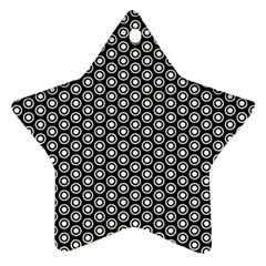 Groovy Circles Star Ornament