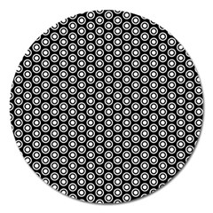 Groovy Circles Magnet 5  (round)