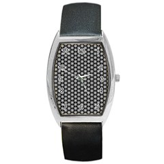 Groovy Circles Tonneau Leather Watch
