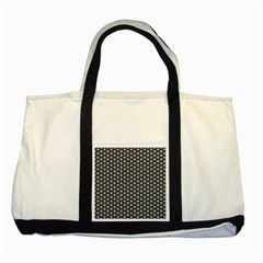 Groovy Circles Two Toned Tote Bag