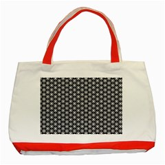 Groovy Circles Classic Tote Bag (Red)
