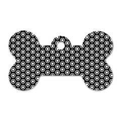 Groovy Circles Dog Tag Bone (One Sided)