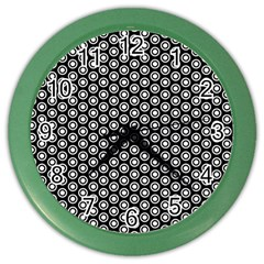 Groovy Circles Wall Clock (color)