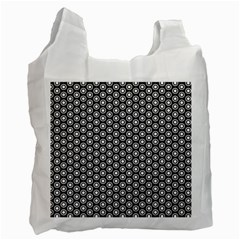 Groovy Circles White Reusable Bag (Two Sides)