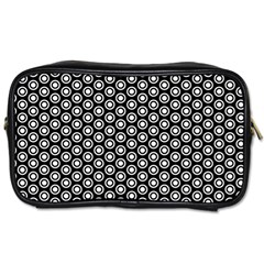 Groovy Circles Travel Toiletry Bag (two Sides)