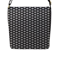 Groovy Circles Flap Closure Messenger Bag (Large)