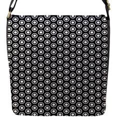 Groovy Circles Flap Closure Messenger Bag (Small)