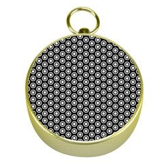 Groovy Circles Gold Compass