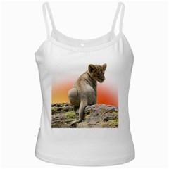 Lion King Cub Tshirt White Spaghetti Tank