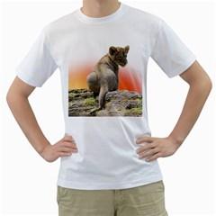 Lion King Cub Tshirt Men s T Shirt (white)