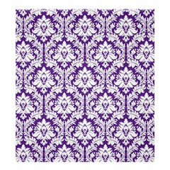 Royal Purple Damask Pattern Shower Curtain 66  x 72  (Large)