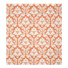 Nectarine Orange Damask Pattern Shower Curtain 66  X 72  (large)