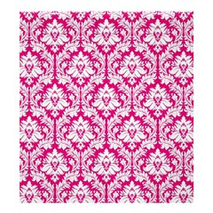 Hot Pink Damask Pattern Shower Curtain 66  x 72  (Large)