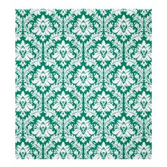 Damask Pattern White Emerald Green Shower Curtain 66  x 72  (Large)