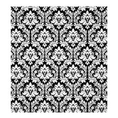 Damask Pattern White Black Shower Curtain 66  x 72  (Large)