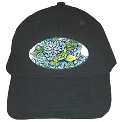 Peaceful Flower Garden Black Baseball Cap