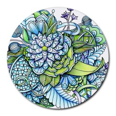 Peaceful Flower Garden 8  Mouse Pad (Round)