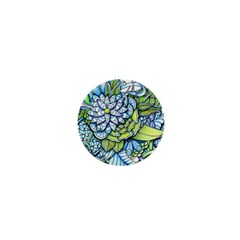 Peaceful Flower Garden 1  Mini Button