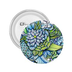 Peaceful Flower Garden 2.25  Button