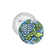 Peaceful Flower Garden 1.75  Button