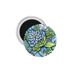 Peaceful Flower Garden 1.75  Button Magnet
