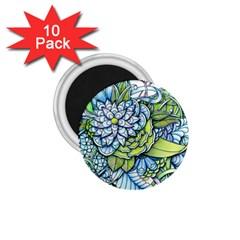 Peaceful Flower Garden 1.75  Button Magnet (10 pack)