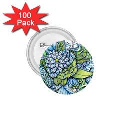 Peaceful Flower Garden 1 75  Button (100 Pack)